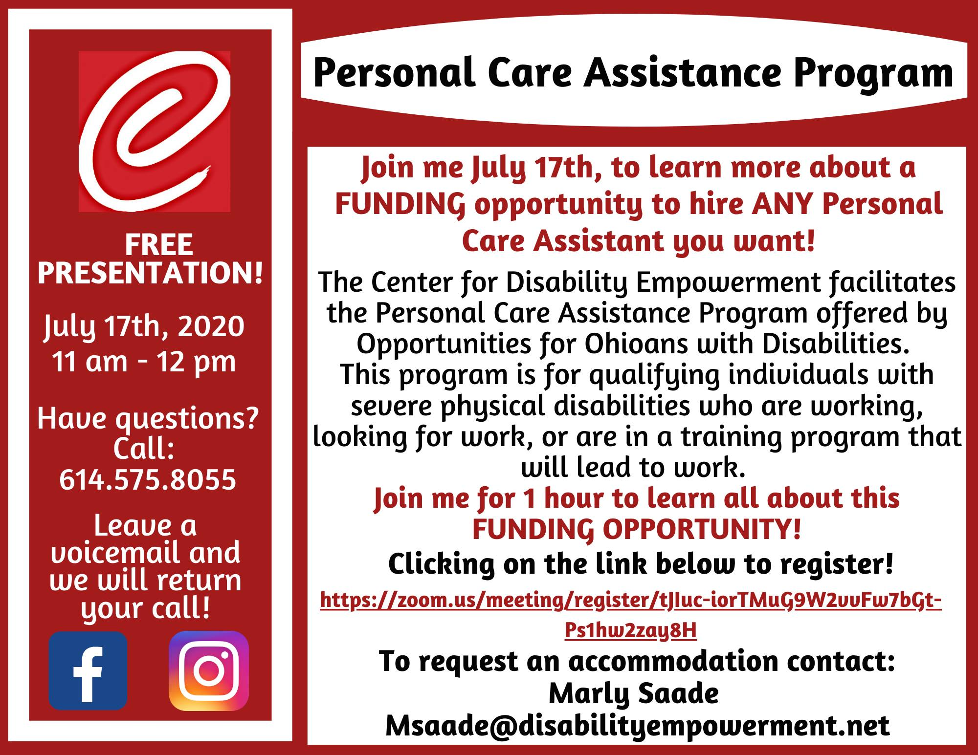 Personal Care Assistance Program